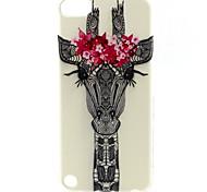 girafa padrão animal pintura TPU soft case para o iPod touch 5