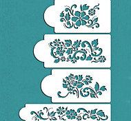 cheap -Valentine's Gift Flowers Cake Decorating Cake Design Stencils,ST-228