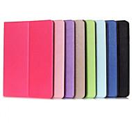 Для Кейс для  Samsung Galaxy со стендом / С функцией автовывода из режима сна / Флип Кейс для Чехол Кейс для Один цвет Искусственная кожа