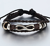 cheap -Men's Women's Leather Bracelet Vintage Bracelet Wrap Bracelet Handmade Leather Infinity Jewelry Christmas Gifts Daily Costume Jewelry