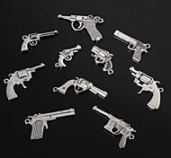 beadia старинных металла шарм подвесками старинное серебро пистолет форма браслет прелести 10 стилей