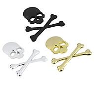 новые наклейки 3d 3м череп скелета кости металл мотоцикл автомобиль стикер этикетки череп эмблема значка автомобиля Салоны Наклейка