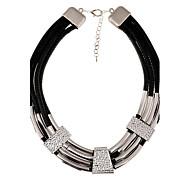 Women's Statement Necklaces Alloy Fashion Silver Yellow Jewelry Party Daily Casual 1pc
