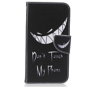 cheap -Case For Samsung Galaxy Samsung Galaxy Case Card Holder Wallet with Stand Flip Pattern Full Body Cases Word / Phrase PU Leather for J5 J3