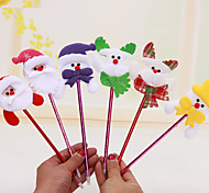 12PCS/SET Random Mixed Styles Christmas Santa Claus Snowman Reindeer Colorful Pen