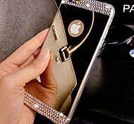 abordables -Funda Para Apple iPhone 8 iPhone 8 Plus iPhone 6 iPhone 6 Plus iPhone 7 Plus iPhone 7 Diamantes Sintéticos Cromado Espejo Funda Trasera