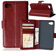 Высокое качество PU кожаный кошелек мобильный телефон кобура случае Sony Xperia Z5 компактный