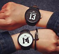 cheap -Men's Women's Couple's Quartz Wrist Watch Hot Sale Leather Band Charm Fashion