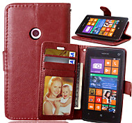 For Nokia Case Wallet / Card Holder / with Stand Case Full Body Case Solid Color Hard PU Leather NokiaNokia Lumia 930 / Nokia Lumia 830 /