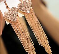 abordables -La imitación de diamante Corazón Moda Forma de Corazón Dorado Pantalla de color Joyas