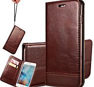 iphone 7 плюс многоцветной высокого класса сращивания строп из натуральной кожи телефон случае для Iphone 6 плюс / 6с плюс