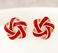 Sweet Flowers Spiral Fashion Personality Temperament Earrings