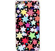 Недорогие -красочные форме звезды шаблон прозрачной шт задняя крышка для Iphone 6