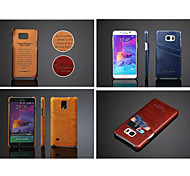 cheap -Case For Samsung Galaxy Samsung Galaxy Note Card Holder Back Cover Solid Color PU Leather for Note 5 Note 4