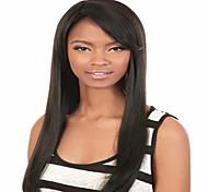Недорогие -жен. Парики из искусственных волос Без шапочки-основы Средний Прямые Черный Карнавальные парики
