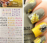 cheap -1pcs Water Transfer Sticker Nail Jewelry 3D Nail Stickers Nail Stamping Template Daily Fashion Punk High Quality