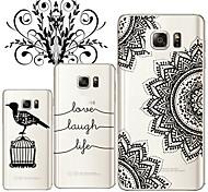Für Samsung Galaxy Note Transparent Hülle Rückseitenabdeckung Hülle Schwarz & Weiß TPU Samsung Note 5