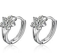 Lureme®  Korean Fashion Sweet 925  Sterling Silver Lovely Snowflake Earrings