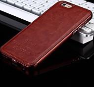 новый роскошный кожаный назад и телефон металлический корпус рамка для iphone6 плюс / 6с плюс (ассорти цветов)