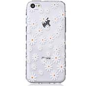 Недорогие -цветочки волны скольжения ручка ТПУ мягкой случай телефона для iPhone 5с