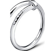 cheap -Women's Sterling Silver Band Ring - Adjustable Silver / Golden Ring For Party / Daily / Casual