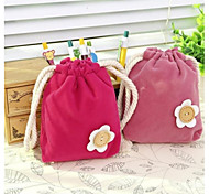 Pure And Fresh And Lovely Flower Smoked Pull Beam Pocket Change Purse(Random Color)