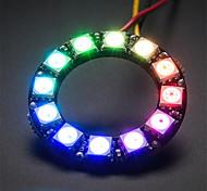 Недорогие -ws2812 5050 RGB 12-главе круглый доска развития лампа - черный