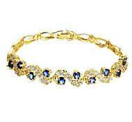Bracelet/Chain Bracelets Gold Plated Wedding / Party / Daily / Casual / Sports Jewelry Gift Yellow Gold,1pc
