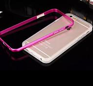Недорогие -объединительная плата металлический каркас прозрачный корпус ТПУ для iphone телефон 6 плюс / 6с плюс (ассорти цветов)