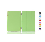 Solid Color Auto Sleep/Wake Up PU Folding Case Cover  for iPad mini 3/2/1