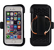 """Three Proofing Waist Clip Outdoor Waterproof PC+Silica Gel Back Cover for iPhone 6/6S 4.7""""(Assorted Color)"""
