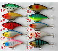 Anmuka  10Color Fishing Sinking VIB Lure Vibration Rattle Hook Crankbait Baits 18g  7.5cm  Free Shipping