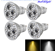 GU10 LED Spotlight R63 3 High Power LED 280 lm Warm White Cold White 3000/6000 K Dimmable Decorative AC 220-240 AC 110-130 V