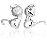 Недорогие -Муж. Жен. Серьги-гвоздики Стерлинговое серебро Бижутерия Свадьба Для вечеринок Повседневные Бижутерия