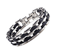 cheap -Men's Stainless Steel Anklet - Chain Fashion Double-layer Black Bracelet For Wedding Party Special Occasion Anniversary Gift Daily