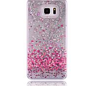 abordables -Funda Para Samsung Galaxy Samsung Galaxy Note Líquido Funda Trasera Corazón ordenador personal para Note 5 Note 4 Note 3