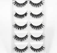 cheap -Eyelash 5 Extended Lifted lashes Volumized Natural Party Makeup Daily Makeup Full Strip Lashes Crisscross Natural Long