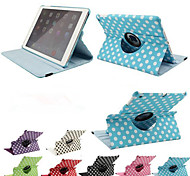 abordables -360 rotation impression de luxe à pois étui en cuir PU pour air apple ipad 2 tablettes cas Smart Cover flip avec support
