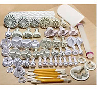 68PCS Fondant Cake Mould Fondant Tools 21Set Cake Decorating Tools Cake Carved Pen Cake Smoother Polisher Baking Mold