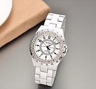 Women Watch Round Dial Anolog Wrist Rhinestone Quartz Watches Ladies ROSRA Female Clock 2015 New Russia Cool Watches Unique Watches Strap Watch