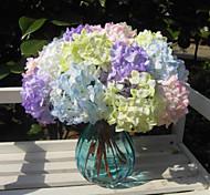 Недорогие -Искусственные Цветы 1 Филиал Простой стиль Гортензии Корзина Цветы