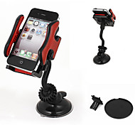 cheap -Car Windshield Mount 360 Degree Cell Phone GPS MP4 Navigation Holder Black Red