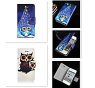 Cartoon-Muster PU-Leder Ganzkörper-Case für iPhone 4 / 4S