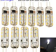 economico -YouOKLight 10 pezzi 2W 150-200 lm G4 Luci LED Bi-pin T 24 leds SMD 3014 Decorativo Luce fredda CA 220-240 V