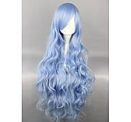 Lolita Wigs Sweet Lolita Blue Elegant Lolita Wig 90 CM Cosplay Wigs Solid Wig For