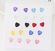 cheap -Women's Star Flower Heart Stud Earrings - Heart 3# 4# 5# Earrings For Party Daily Casual