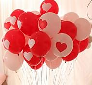 Недорогие -10шт в форме сердца шар свадьба на воздушном шаре Печать фотографий моды жениться шар воздушный шар любви