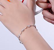 S925 Pure Stering Silver AAA Zircon Bracelet,Fine JewelryImitation Diamond Birthstone Christmas Gifts