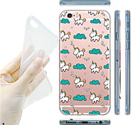 For iPhone 7 MAYCARI® Childhood Memory Soft Transparent TPU Back Case for iPhone 6s 6 Plus