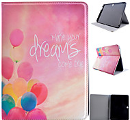 For Samsung Galaxy Case with Stand / Flip / Pattern Case Full Body Case Balloon PU Leather SamsungTab 4 10.1 / Tab S2 9.7 / Tab S2 8.0 /